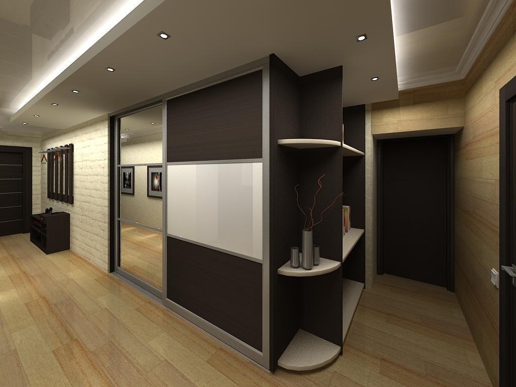 Гардеробная в коридоре фото дизайн интерьера.